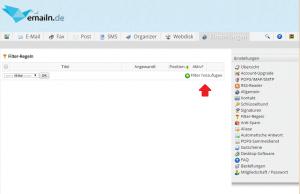 Neuer E-Mail Filter